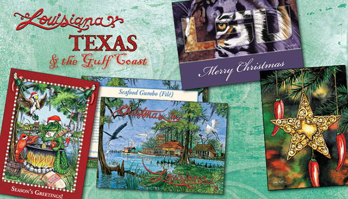 Louisiana  Christmas Cards - Texas Christmas Cards