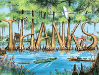 """Thanks in Cypress"" Note Cards"