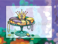 """King Cake"" Note Cards"