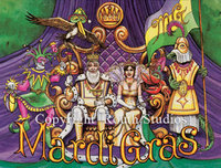 """Mardi Gras Court"" Note Cards"