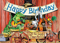 """Let the Good Times Roll"" Birthday Card"