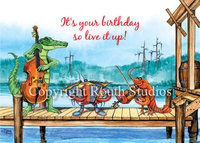 """Pier Party"" Birthday Card"