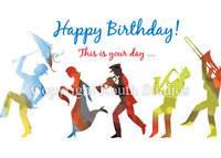 """Second Line Birthday Parade"" Birthday Card"