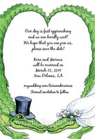 """Alligator Wedding"" Invitations"