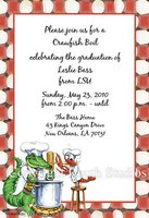 """One Chef Sous Chef"" Invitations"