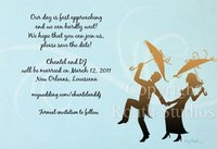 """Second Line Couple"" Invitations"