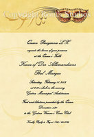 """Gold Masquerade"" Invitations"