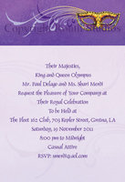 """Purple Masquerade"" Invitations"
