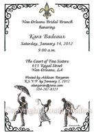 """Second Line Dance"" Invitations"