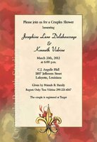 """Crawfish Fleur-de-lis"" Invitations"