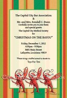 """Christmas Chorus Line"" Invitations"