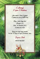 """Fleur-de-lis & Crawfish"" Invitations"