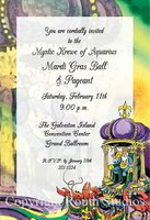"""Mardi Gras King"" Invitations"