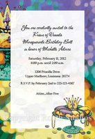 """Mardi Gras King Cake"" Invitations"