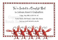 """Crawfish Chorus Line"" Invitations"