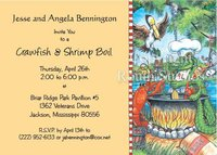 """Alligator Chef"" Invitations"