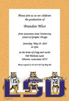"""LSU Tigers Gold"" Invitations"