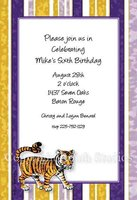 """LSU Tiger Stripes"" Invitations"