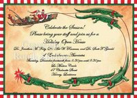 """Santa & Gators"" Invitations"