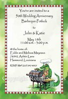 """Grilling Alligator"" Invitations"