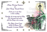 """Louisiana Patio"" Invitations"