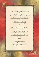 """Red & Gold Fleur-de-lis"" Invitations"