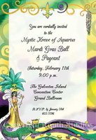 """Mardi Gras Queen"" Invitations"