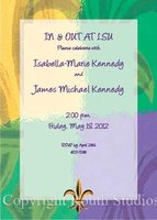 """Purple Gold & Green FDL"" Invitations"