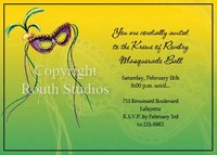 """Masquerade"" Invitations"