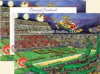 """LSU Tiger Stadium Christmas"" Christmas Cards"