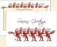"""Christmas Chorus Line"" Christmas Cards - Limited Stock"