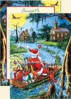 """Santa's Bayou Trek"" Christmas Cards"