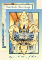 """St. Louis Cathedral Christmas Fleur-de-lis"" Christmas Cards"
