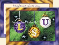 """LSU Christmas Ornaments"" Christmas Cards"