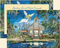 """Bayou Church Angel"" Christmas Cards, #CMX"