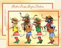 """Longhorn Line Dance"", Texas  Christmas Cards"