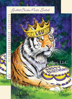 """Royal Birthday Tiger"" Birthday Card"