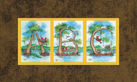 """ABC's in Cypress Trees"" - Bronze Matted Art Print"