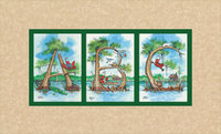 """ABC's in Cypress Trees"" - Warm Tan Matted Art Print"
