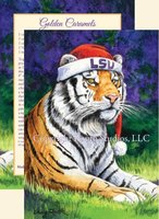 """Christmas Cat in the Hat"" Christmas Cards, #C13LSU"