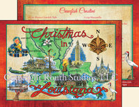 """Louisiana Christmas North South East West"" Christmas Cards"