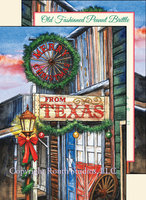 """Old Fashioned Texas Town Christmas"", Texas Christmas Cards"