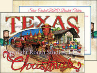 """Texas North Pole Train Station"", Texas Christmas Cards"