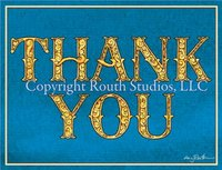 """Fancy Thank You"" Note Cards"