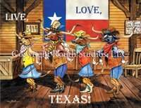 """Live, Love, Texas"" Note Cards"