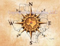 """Texas North, South, East & West"" Note Cards"