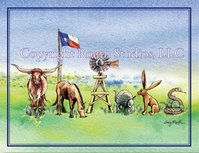 """Thanks in Texas Critters"" Note Cards"