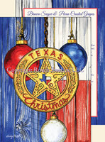 """Texas Christmas Ornaments"" Christmas Cards"