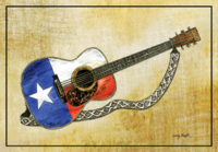 """Texas Flag Guitar"""