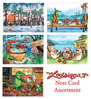 """Louisiana Assortment"" Note Cards"